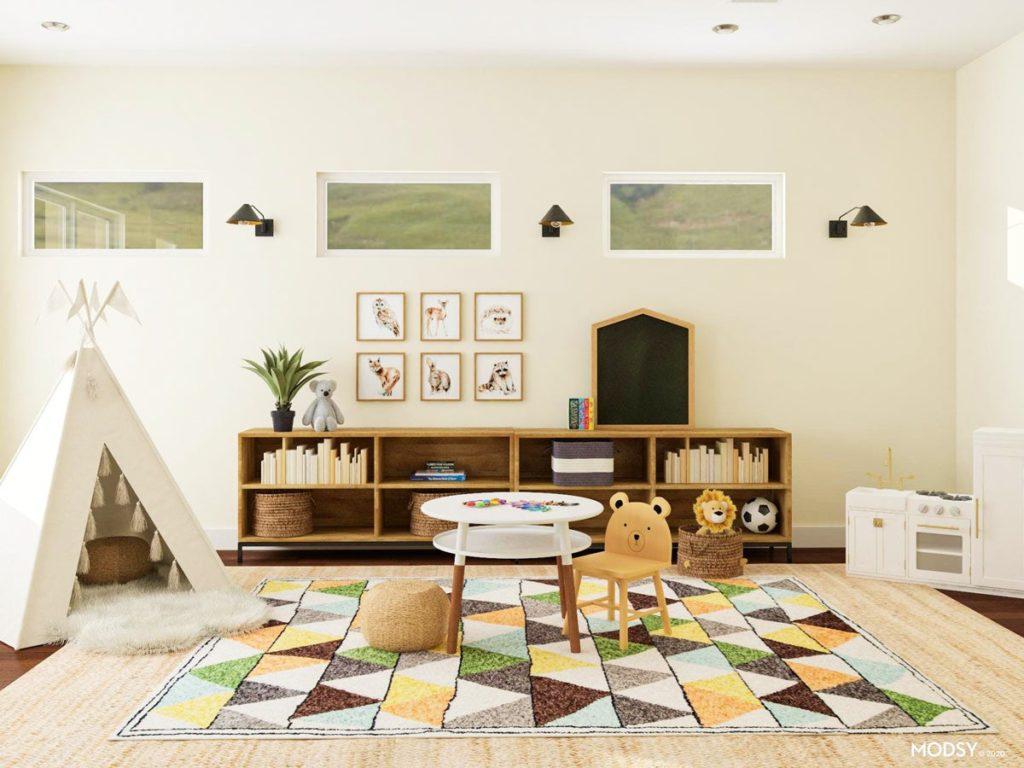 living room child-friendly